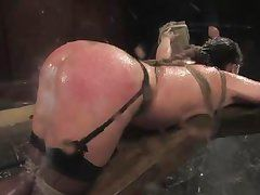 ginger cougar katja is all wet and getting wetter!