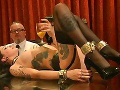 hot milfs getting sexually aroused on table