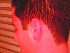 brunette gay masturbation in the shower