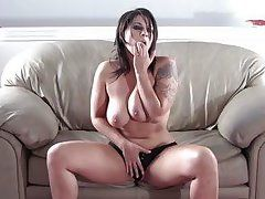 lustful masturbating on the couch