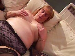 blonde mom slut playing with her body smoothly