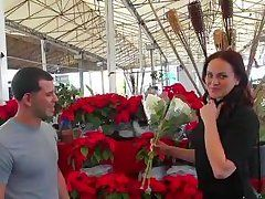hot cougar picked up by a florist