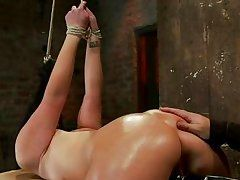 brunette fixed and bonked in the vagina and entrance