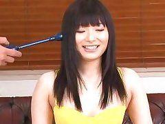 brunette nippon cutie pleasured