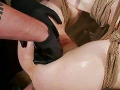milky white hotty ass rubbed and fingered