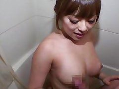 slurping cock in the bathtub