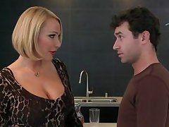 hot blonde milf goes cougar on a 18yo guy